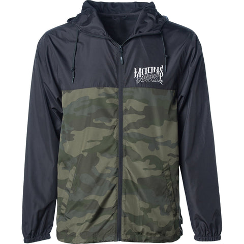 MOONSMC® Black / Camo Lightweight Windbreaker