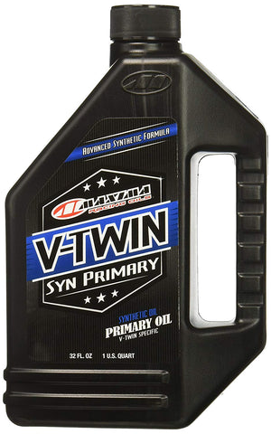 Maxima V-Twin Synthetic Primary Oil 32oz, Engine, Maxima, MOONSMC // Moons Motorcycle Culture