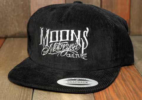 MOONSMC® OG Logo Corduroy Snapback Hat, Apparel, MOONS, MOONSMC® // Moons Motorcycle Culture