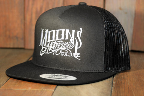 MOONSMC® OG Logo Black Snapback Hat, Apparel, MOONS, MOONSMC® // Moons Motorcycle Culture