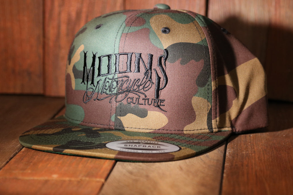 MOONSMC OG Logo Camo Snapback Hat, Apparel, MOONS, MOONSMC // Moons Motorcycle Culture