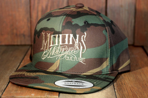MOONSMC® OG Logo Camo Snapback Hat, Apparel, MOONS, MOONSMC® // Moons Motorcycle Culture