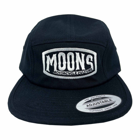 MOONSMC® Vintage Badge Logo Black 5 Panel Hat