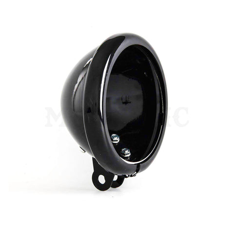 MOONSMC® 5.75 Black Headlight Bucket, Parts, MOONS, MOONSMC // Moons Motorcycle Culture