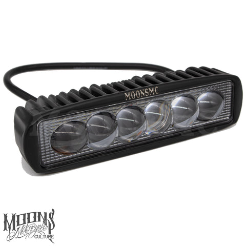 MOONSMC® 6in 18 Watt Single Row LED Light Bar, Lighting, MOONS, MOONSMC // Moons Motorcycle Culture
