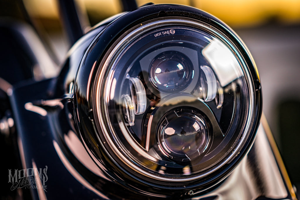"7"" MOONSMC® Moonmaker LED Headlight For Harley, Lighting, MOONS, MOONSMC® // Moons Motorcycle Culture"