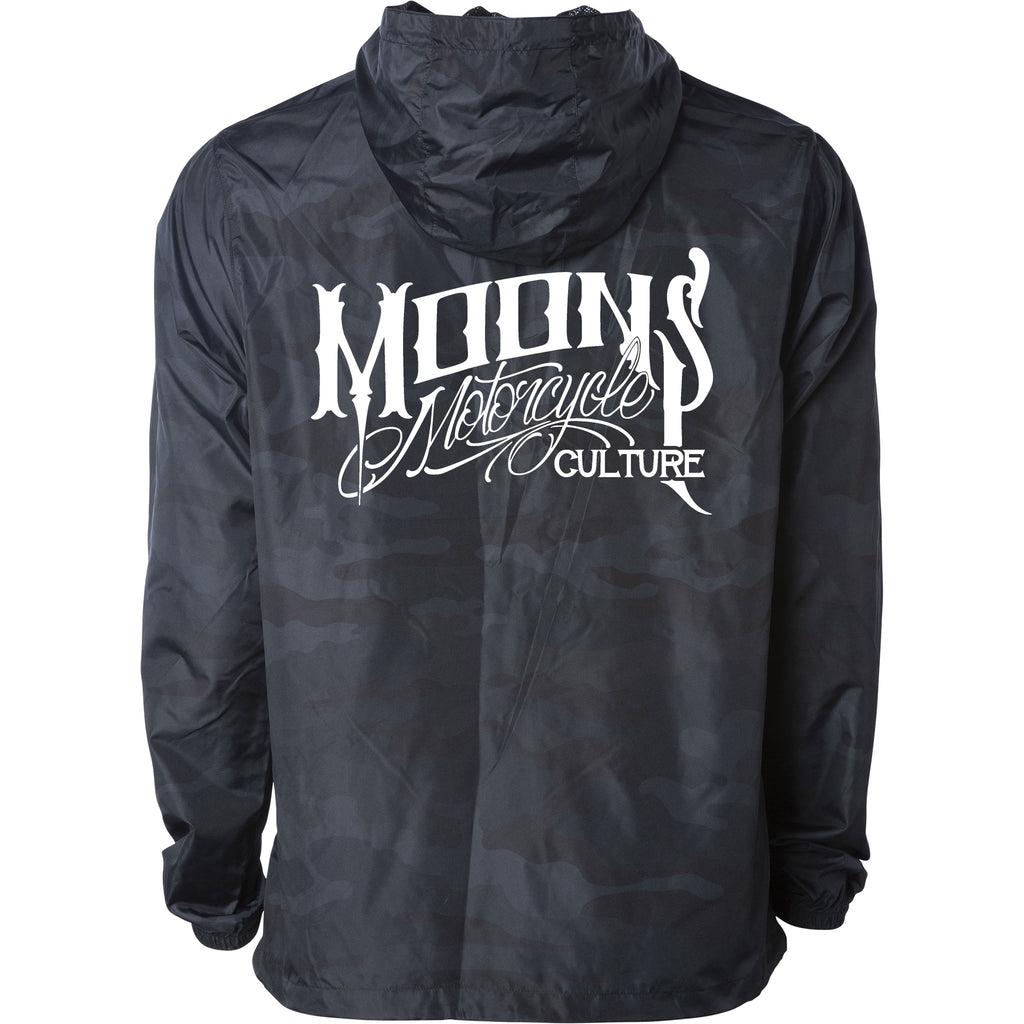 MOONSMC® Black Camo Lightweight Windbreaker, Apparel, MOONS, MOONSMC // Moons Motorcycle Culture