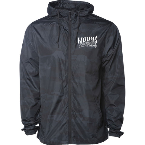 MOONSMC® Black Camo Lightweight Windbreaker