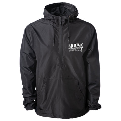MOONSMC® Black Lightweight Pullover Windbreaker