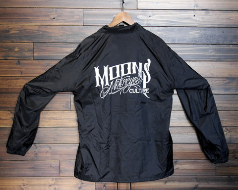 MOONSMC® OG Logo Black Windbreaker, Apparel, MOONS, MOONSMC // Moons Motorcycle Culture