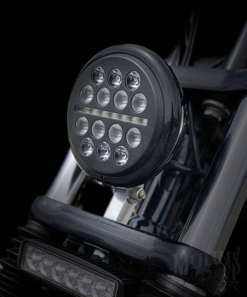 5.75 MOONSMC® Moonmaker Fly Eye® LED Headlight, Lighting, MOONS, MOONSMC // Moons Motorcycle Culture