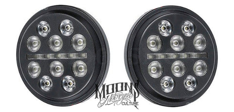 "4.5"" Inch MOONSMC® Fly Eye LED Auxiliary / Passing Lamps, Lighting, MOONS, MOONSMC® // Moons Motorcycle Culture"
