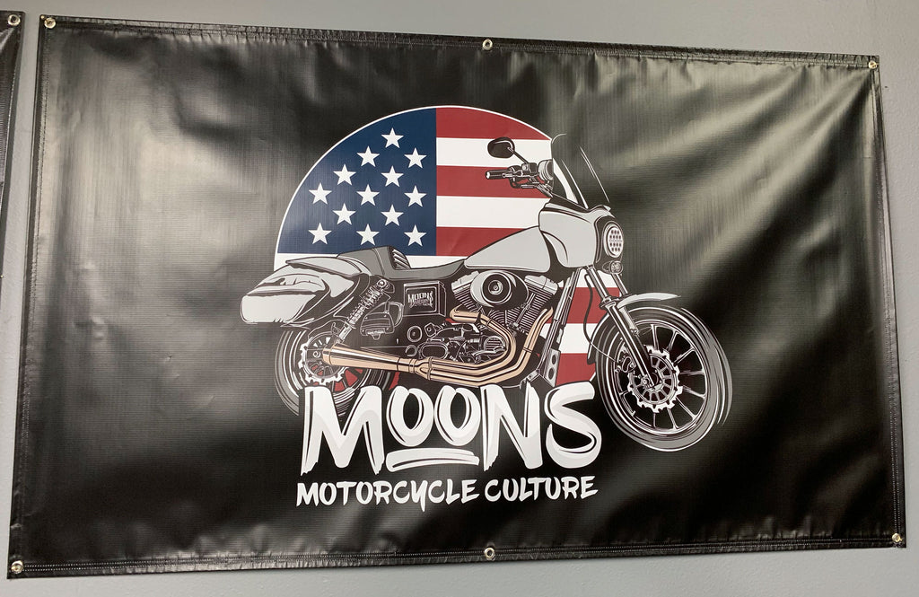 MOONSMC® FXDXT T-Sport MURICA Shop Banner, Accessories, MOONS, MOONSMC® // Moons Motorcycle Culture