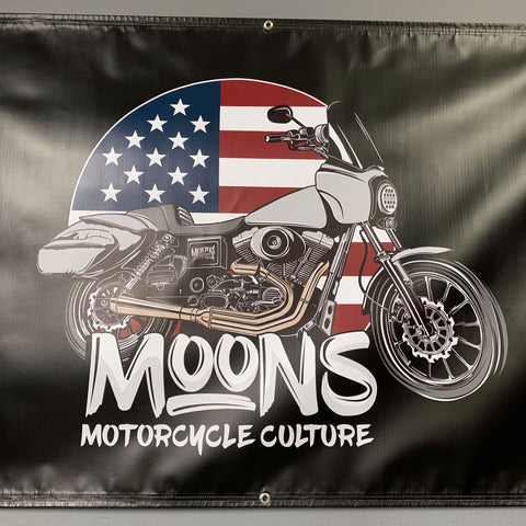 MOONSMC® FXDXT T-Sport MURICA Shop Banner, Accessories, MOONS, MOONSMC // Moons Motorcycle Culture