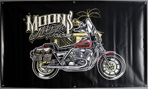 MOONSMC® Red Rider FXR Shop Banner, Accessories, MOONS, MOONSMC® // Moons Motorcycle Culture