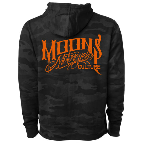 MOONSMC® OG Logo Pullover Black Camo Hoodie, Apparel, MOONS, MOONSMC® // Moons Motorcycle Culture