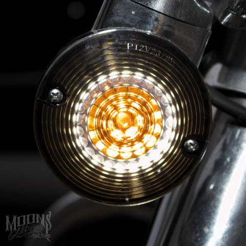 MOONSMC® MOONPODS Flat Style LED Turn Signals, Lighting, MOONS, MOONSMC® // Moons Motorcycle Culture