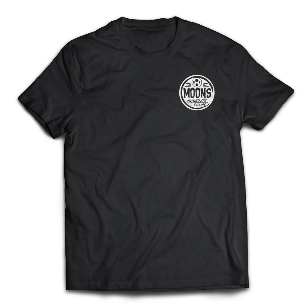 MOONSMC® Headlight Circle Logo Tshirt, Apparel, MOONS, MOONSMC® // Moons Motorcycle Culture