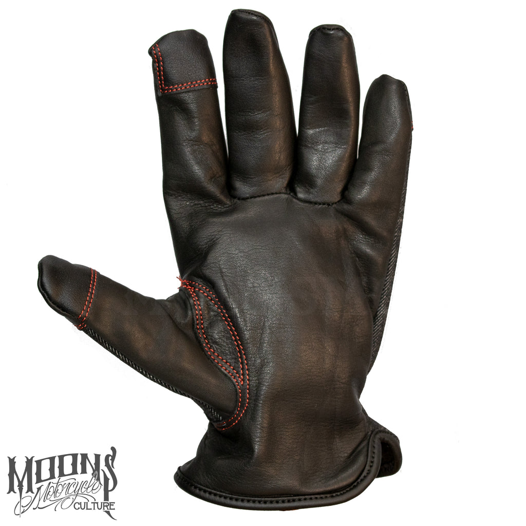 MOONSMC® Red Rider Gloves, Gloves, MOONS, MOONSMC® // Moons Motorcycle Culture