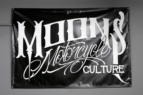 MOONSMC® OG Logo Shop Banner, Accessories, MOONS, MOONSMC // Moons Motorcycle Culture