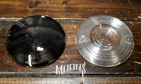 MOONSMC® Smoked / Clear Bagger Turn Signal Lens Kit, Lighting,Parts, MOONS, MOONSMC® // Moons Motorcycle Culture