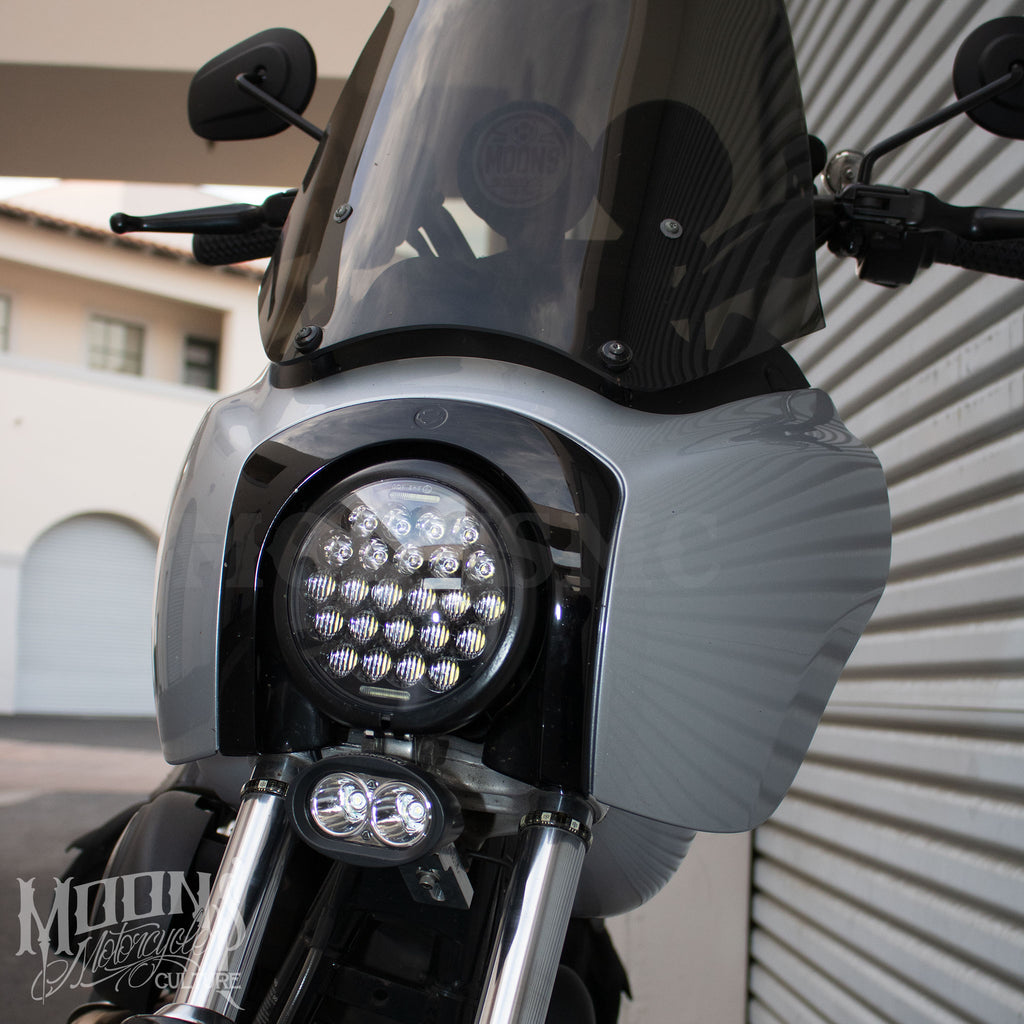 5.75 MOONSMC® Spyder V2 LED Headlight, Lighting, MOONS, MOONSMC // Moons Motorcycle Culture