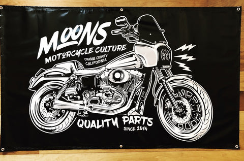 MOONSMC® TSPORT Shop Banner, Accessories, MOONS, MOONSMC® // Moons Motorcycle Culture