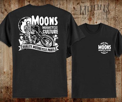 MOONSMC Skull Rider T-Shirt, Apparel, MOONS, MOONSMC // Moons Motorcycle Culture