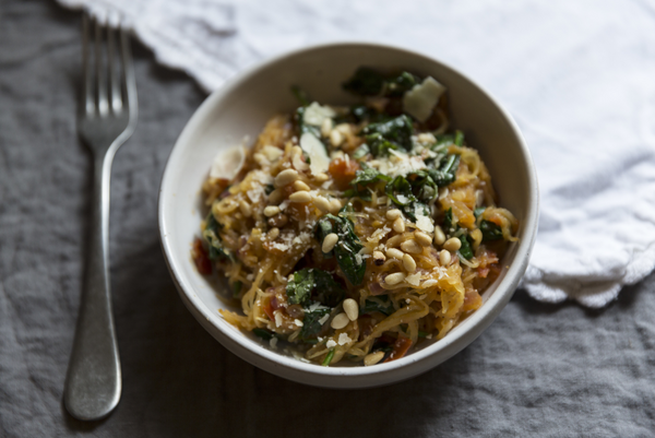 Savory Spaghetti Squash Recipe from Our Guest  Blogger, Jamie Barker of Wallace & James