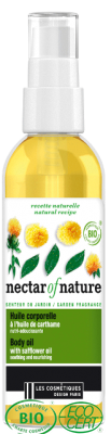 Organic Safflower Body Oil · Huile corporelle BIO à l'huile de carthame (100 mL)