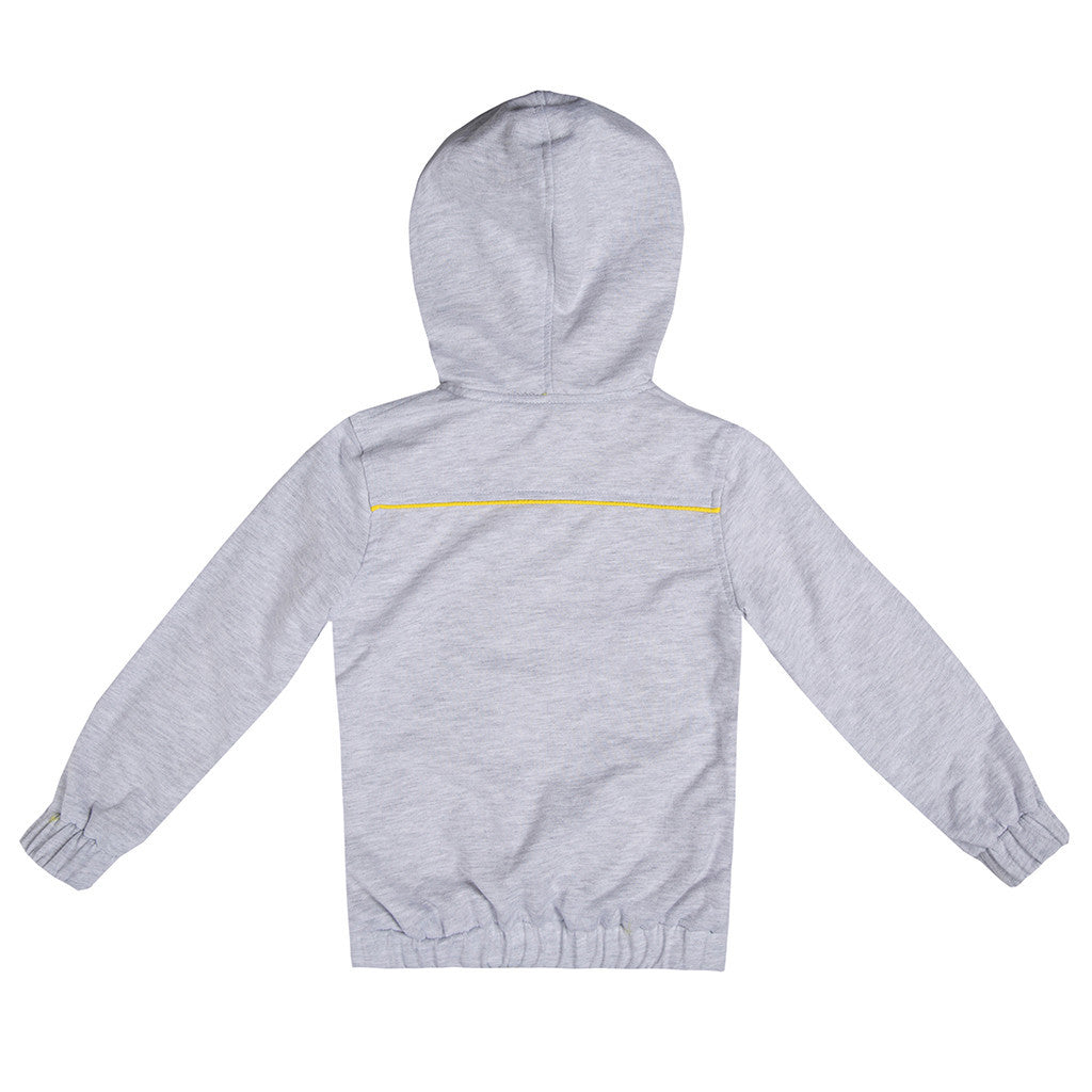 Yellow or Grey Reversible Hooded Kids Rain Jacket RAINCOAT Tuta Kids - Nebbati at Kids Emporium by Lazy Francis - Shop in store at 406 Kings Road, Chelsea, London or shop online at www.kidsemporiumonline.com