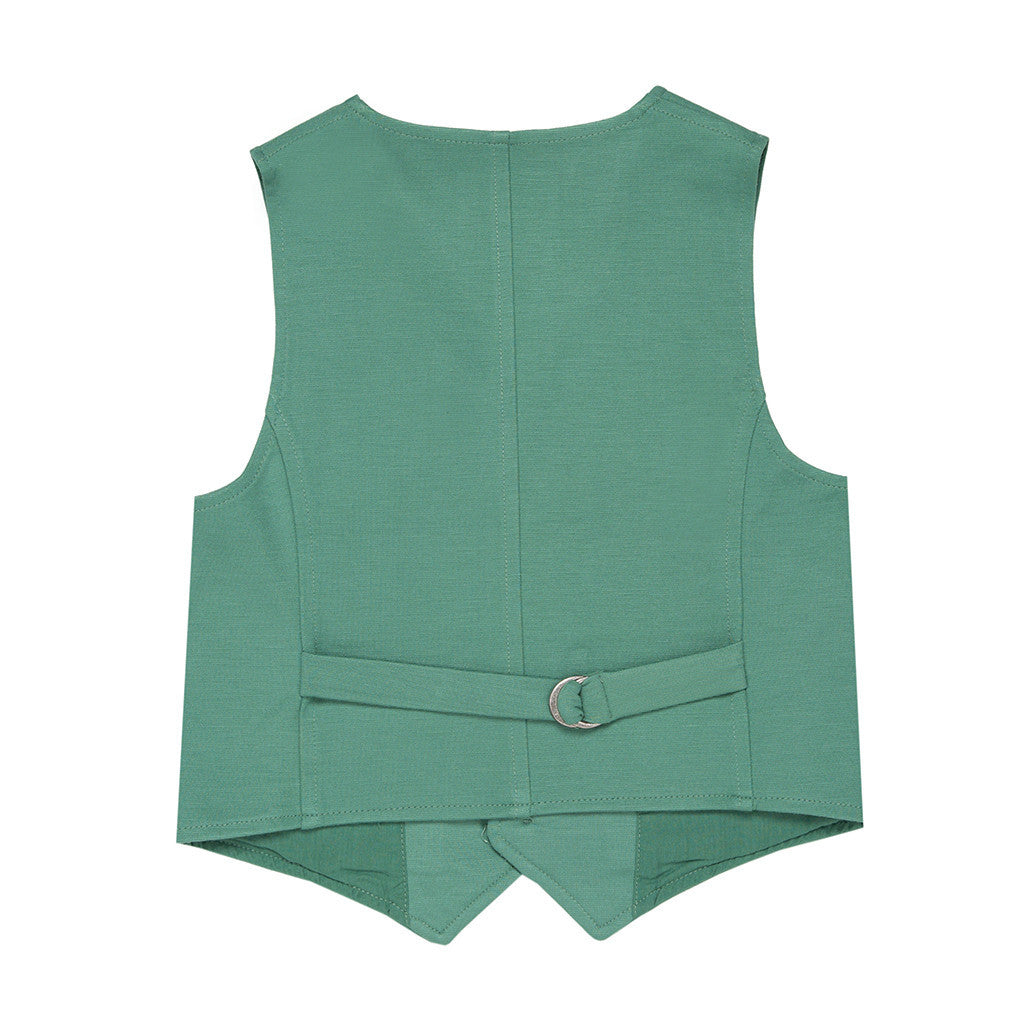 Green Jersey Boys Waistcoat WAISTCOAT Tuta - Firstline at Kids Emporium by Lazy Francis - Shop in store at 406 Kings Road, Chelsea, London or shop online at www.kidsemporiumonline.com