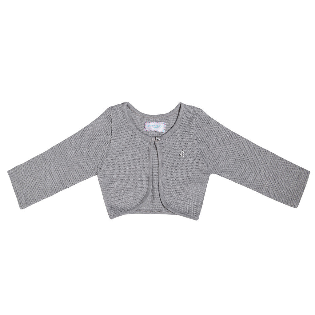 Grey Girls Bolero BOLERO Tuta - Ricconi at Kids Emporium by Lazy Francis - Shop in store at 406 Kings Road, Chelsea, London or shop online at www.kidsemporiumonline.com
