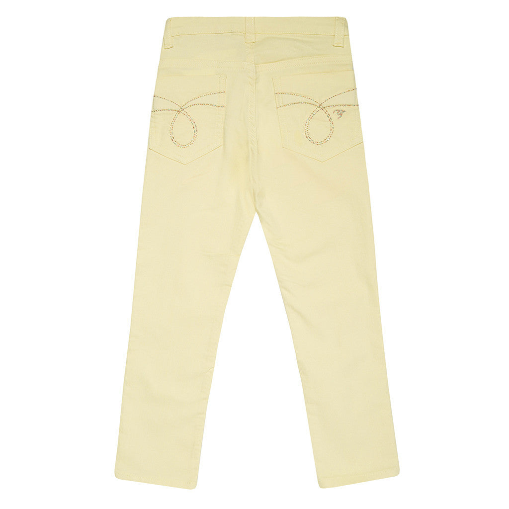 Light Yellow Girls Trousers TROUSERS Tyess at Kids Emporium by Lazy Francis - Shop in store at 406 Kings Road, Chelsea, London or shop online at www.kidsemporiumonline.com