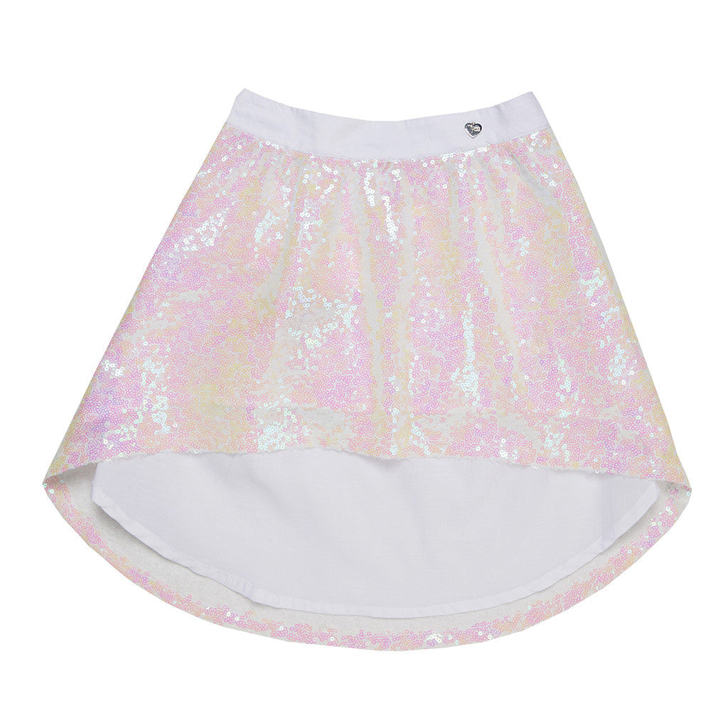 Fully Sequined Girls Skirt SKIRT Tyess at Kids Emporium by Lazy Francis - Shop in store at 406 Kings Road, Chelsea, London or shop online at www.kidsemporiumonline.com