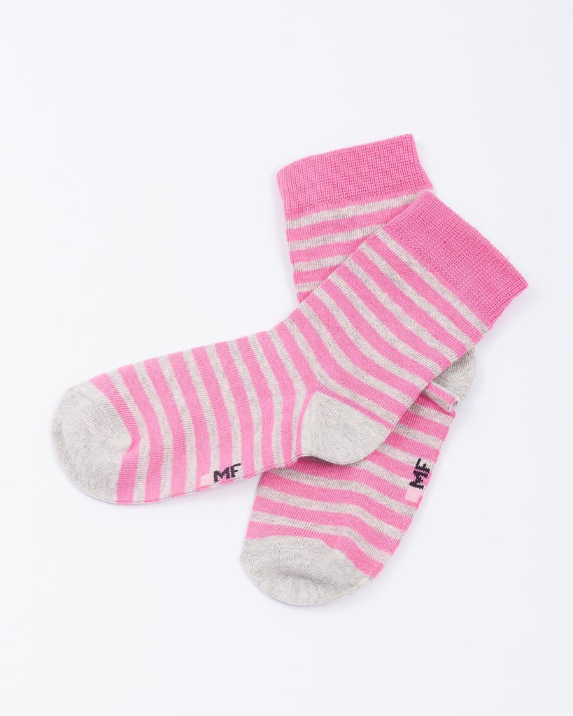 Pink & Grey Stripy Girls Socks - Mark Formelle Socks Mark Formelle at Kids Emporium by Lazy Francis - Shop in store at 406 Kings Road, Chelsea, London or shop online at www.kidsemporiumonline.com