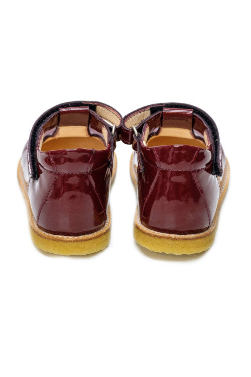 Burgundy Heart Mary-Jane Girls Shoes - Angulus Shoes Angulus at Kids Emporium by Lazy Francis - Shop in store at 406 Kings Road, Chelsea, London or shop online at www.kidsemporiumonline.com
