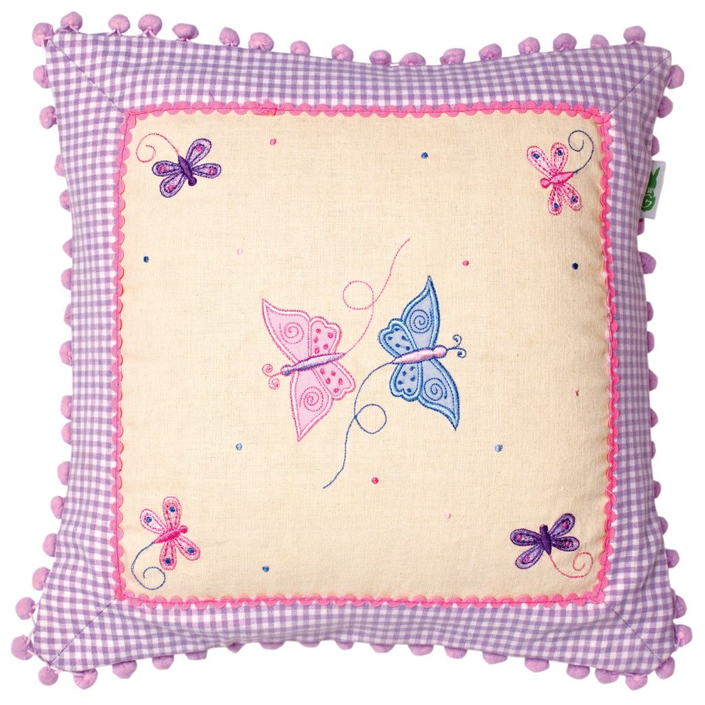 Butterfly Cottage Cushion Cover - Win Green Interior Win Green at Kids Emporium by Lazy Francis - Shop in store at 406 Kings Road, Chelsea, London or shop online at www.kidsemporiumonline.com