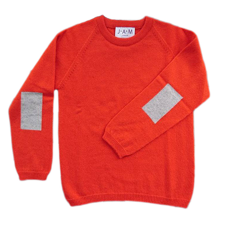 Orange and Grey Danny Boys Jumper - JAM London