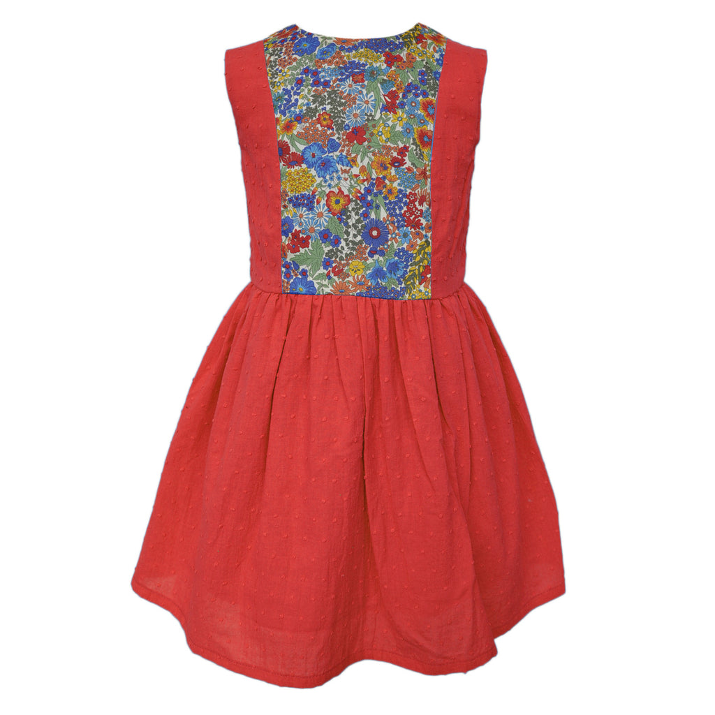 Dorothy Red Girls Dress Girls dress JAM London at Kids Emporium by Lazy Francis - Shop in store at 406 Kings Road, Chelsea, London or shop online at www.kidsemporiumonline.com