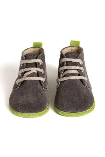Handmade Charcoal and Lime Edwards Boys Boots