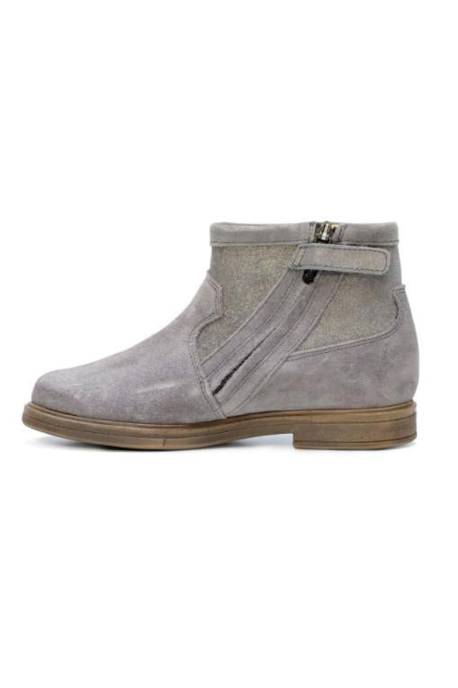 Grey Hobo Cover SL Velours Plomb Ankle Boots Shoes Pom D'Api