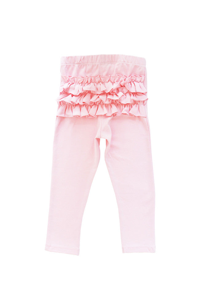 Pink Organic Girls Frilled Leggings Baby clothes Hebe at Kids Emporium by Lazy Francis - Shop in store at 406 Kings Road, Chelsea, London or shop online at www.kidsemporiumonline.com
