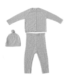 Grey Cashmere Baby Costume Costume Moksha Cashmere at Kids Emporium by Lazy Francis - Shop in store at 406 Kings Road, Chelsea, London or shop online at www.kidsemporiumonline.com