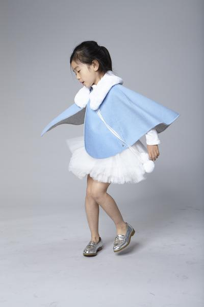 Blue Frozen Reversible Cape - Le Mu