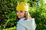 Yellow Crown Hat ACCESSORIES Lazy Francis at Kids Emporium by Lazy Francis - Shop in store at 406 Kings Road, Chelsea, London or shop online at www.kidsemporiumonline.com