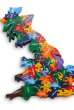 Wooden Puzzle Map of Britain Toys, puzzles Wood like to play at Kids Emporium by Lazy Francis - Shop in store at 406 Kings Road, Chelsea, London or shop online at www.kidsemporiumonline.com