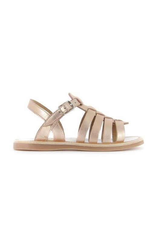Metallic Gold Strap Girls sandal by Pom D'Api