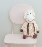 Cream Darla The Sheep Toys Bebemoss at Kids Emporium by Lazy Francis - Shop in store at 406 Kings Road, Chelsea, London or shop online at www.kidsemporiumonline.com