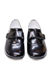 Lazy Francis Black Smart Baby Boy Shoes with Velcro Fastening Shoes Lazy Francis at Kids Emporium by Lazy Francis - Shop in store at 406 Kings Road, Chelsea, London or shop online at www.kidsemporiumonline.com